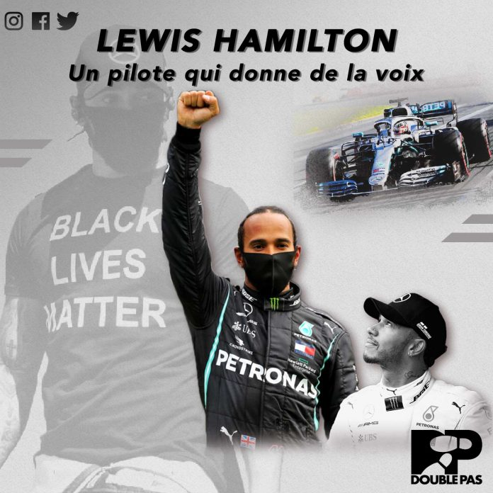 Hamilton pilote Formule 1 Double Pas