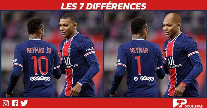 Les joueurs du PSG Neymar et Mbappé. Jeux Doublepas