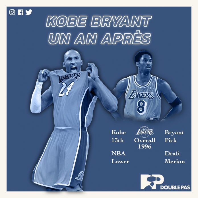 Kobe Bryant la star de la NBA, hommage par Double Pas/Doublepas
