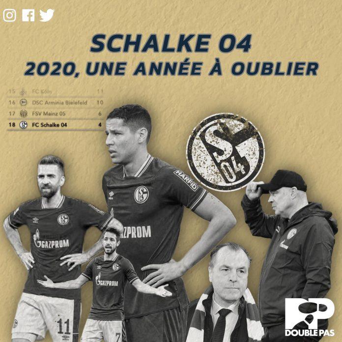 Les joueurs de Schalke 04 avec Ami,e Harit et l'entraîneur Christian Gross