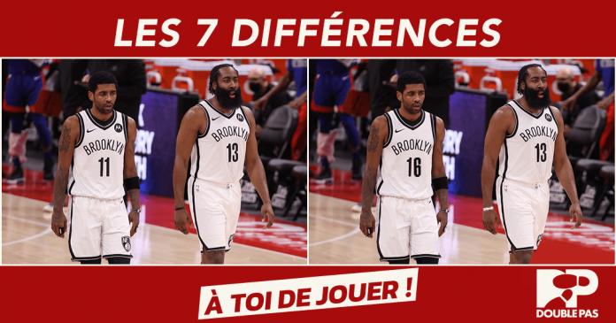 Les joueurs NBA Kyrie Irving et James Harden. Images de Double Pas pour Doublepas.fr