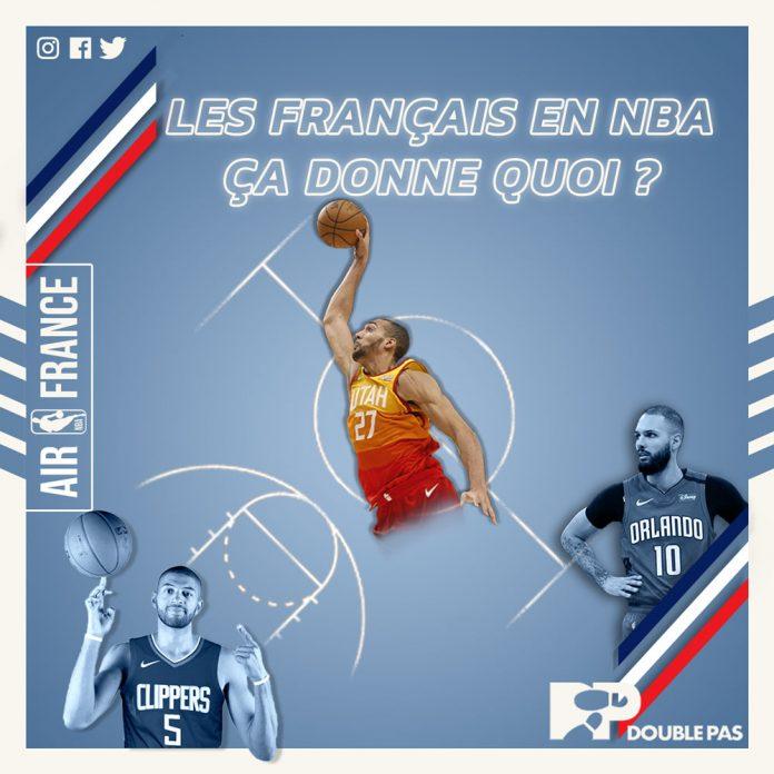 Les joueurs français en NBA par Double Pas pour le site doublepas