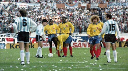 5 septembre 1993 : Au stade du Monumental de Buenos Aires, la Colombie gagne 5 à 0 face à l'Argentine.